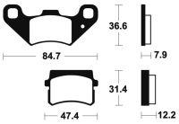 Plaquettes de frein BENDIX 355 MA