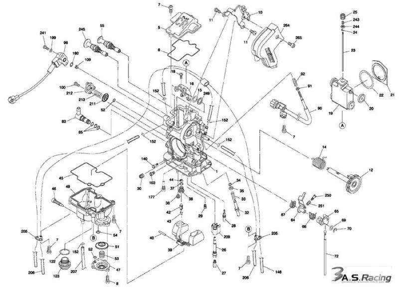 Carburateur Fcr Keihin  U00d839mm Pour Honda  Kawasaki  Ktm  Suzuki Et Yamaha  Vente Keihin 33986