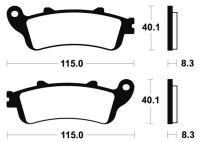 Plaquettes de frein BRAKING 813CM66
